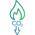 Low Carbon Heat Icon